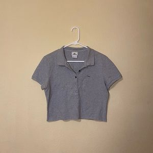 cropped lacoste polo